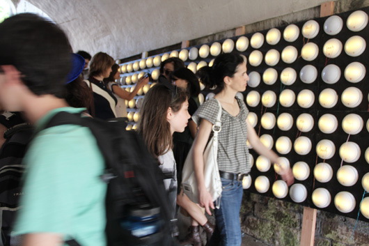 paperJAM - Touch (Off the Grid) - installation view at FIGMENT NYC 2012